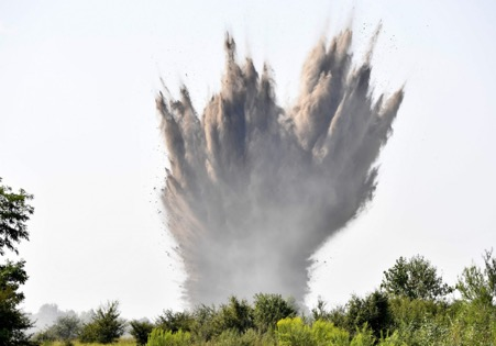 WWII bombs detonated in Hungary